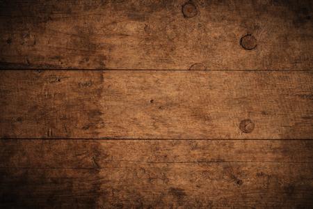 Dunkler strukturierter hölzerner Hintergrund des alten Schmutzes, die Oberfläche der alten braunen Holzbeschaffenheit, braune Holztäfelung der Draufsicht