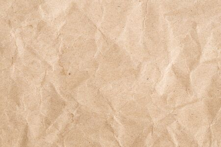 Recycle brown paper crumpled texture, Old paper surface for background Stok Fotoğraf - 128696755