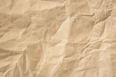 Recycle brown paper crumpled texture, Old paper surface for background