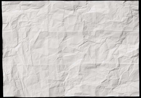 Recycle white paper crumpled texture, Abstract grey paper wrinkled for background Stock fotó