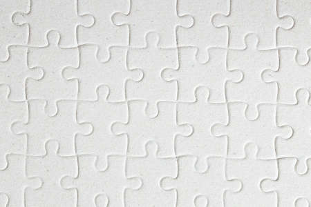 Top view of the set white puzzle jigsaw.
