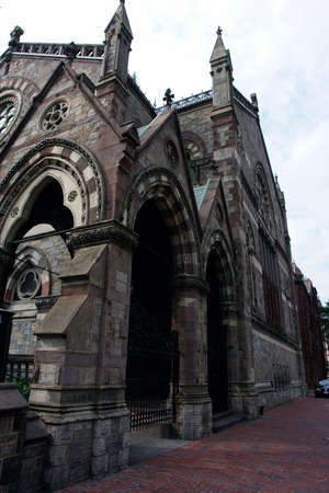 The old south church in copley square, very ornate and impossing, delicately carved and solidly built