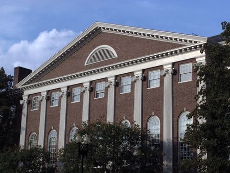 one of the many buildings at harvard university in cambridge massachusetts