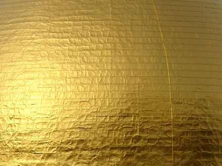 Close up of golden dome showing the detail of the applied gold leaf