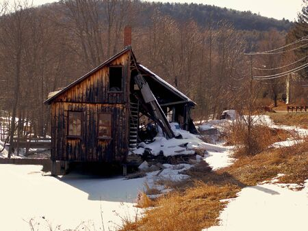 lumber mill: Abandoned lumber mill in the hills of leverett massachusetts