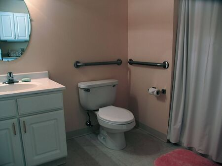 Bathroom in assisted living apartment complex