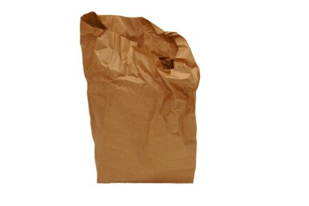 brown paper bag, partially rumpled with top open Stock Photo - 2042342