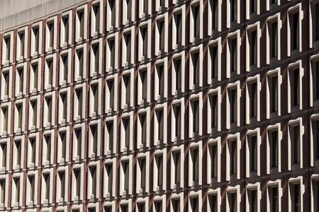abstract view of curved boston building, government center plaza