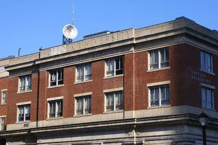 suffolk: classic view of suffolk university in boston massachusetts