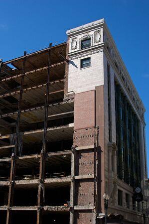 old landmark building being demolished in downtown boston massachusetts