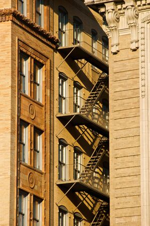 brownstone fire escape in between two buildings in downtown boston massachusetts on a sunny day Reklamní fotografie