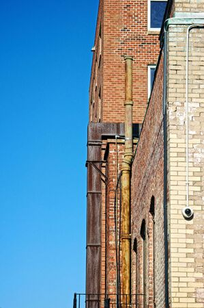 detailed image of the back of apartment buildings in boston massachusetts Reklamní fotografie - 3776184