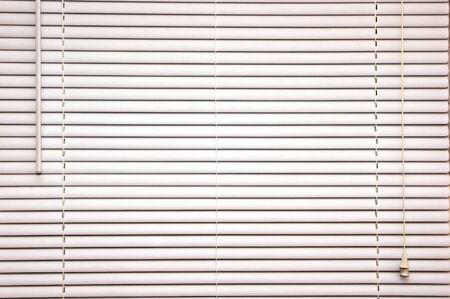 家の中ホワイト小型ブラインド オフの背景イメージの閉鎖 写真素材