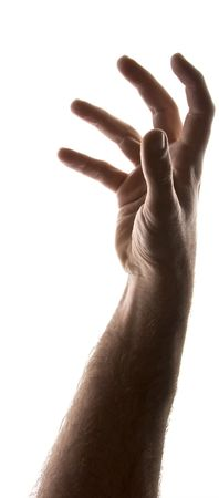 male arm: adulto de sexo masculino brazo hasta llegar a blanco, parcial silueta