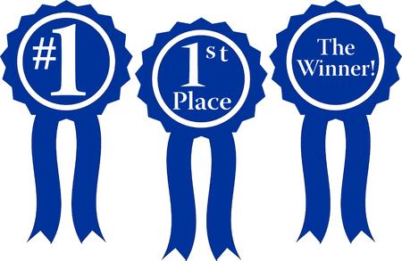 1 place: list�n azul tres premios, # 1, 1er lugar y el ganador!