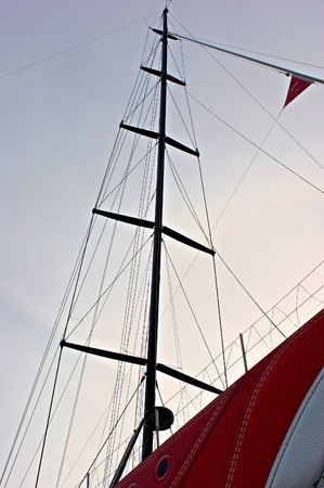 low angle view of ships mast against the sky