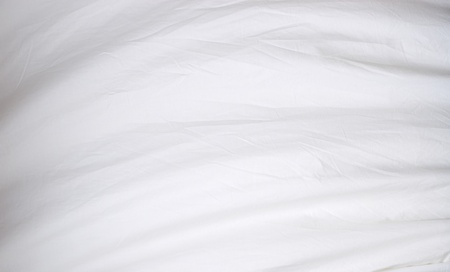 A billowing white cloth fills the entire image and has soft folds and wrinkles