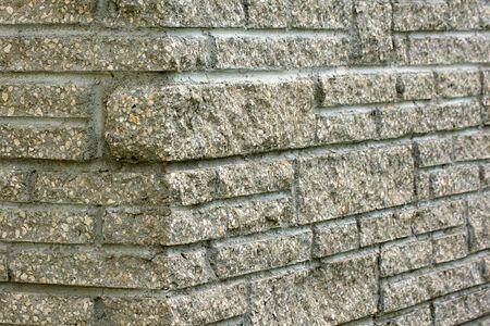 chimney corner: Detalle de la obra de f�brica �nica chimenea de piedra.