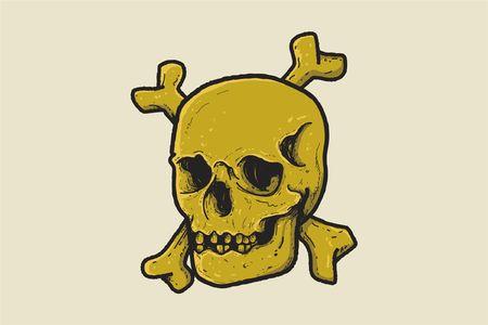 head skull isolated on graphic vector illustration