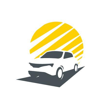 Race car sport silhouette