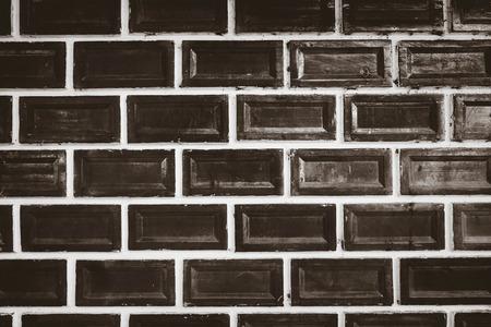 Contemporary brick of wall, Vintage tone.