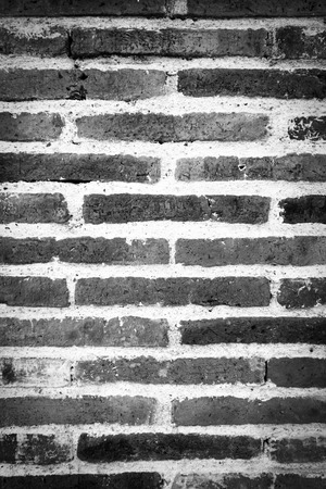 Old brick of wall, White and Black color. Banco de Imagens