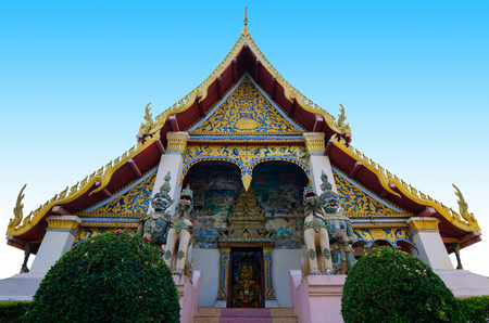 Chapel art and culture  in Thailand.