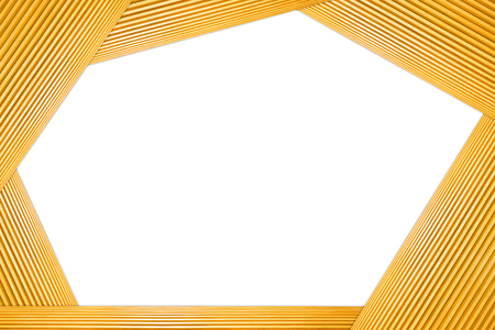 Stacked Polygon Frame Light Brown Wooden Isolated on white background. 写真素材 - 105083490