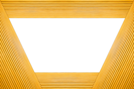 Stacked Trapezoid Frame Light Brown Wooden Isolated on white background.