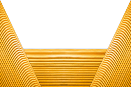 Stacked Trapezoid Frame Light Brown Wooden Isolated on white background. 写真素材 - 105083920
