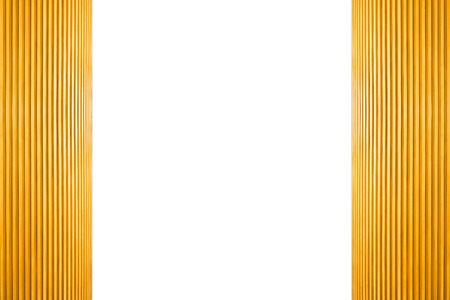 Frame Light Brown Wooden Isolated on white background. 写真素材 - 105083924
