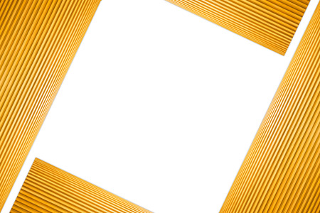 Stacked Square Frame Light Brown Wooden Isolated on white background.