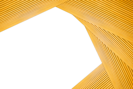 Stacked Polygon Frame Light Brown Wooden Isolated on white background. 写真素材