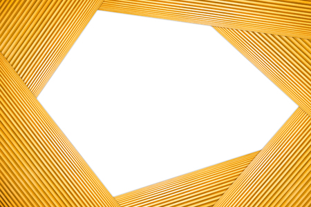 Stacked Polygon Frame Light Brown Wooden Isolated on white background. 写真素材 - 105084081