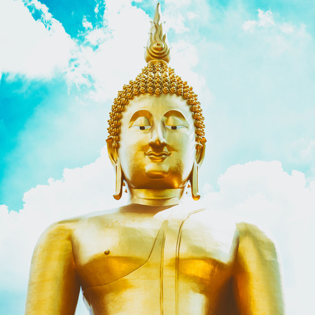 Big Buddha statue, vintage color tone. 写真素材