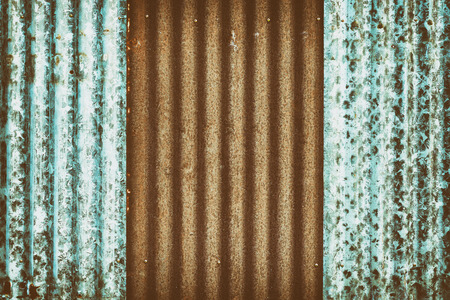 Rusted zinc roofing sheet textures, vintage color tone. 写真素材