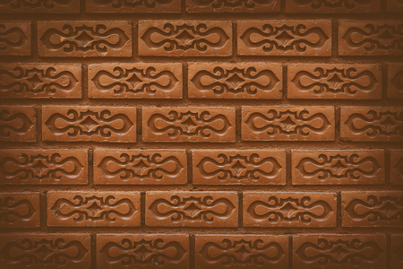 Beautiful brick wall pattern, vintage color tone.