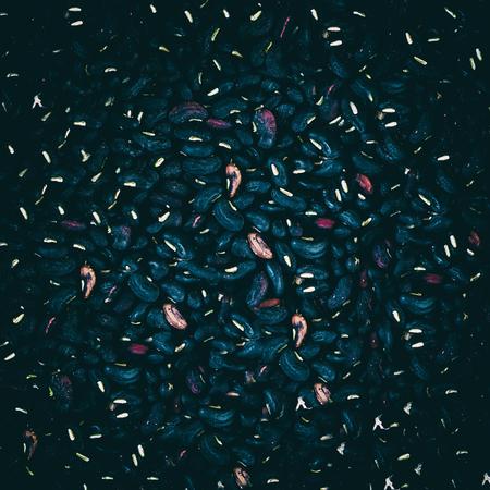 Black beans and Black gram  texture. 写真素材