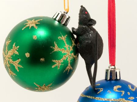 Character of New Year rat on new-year decorations