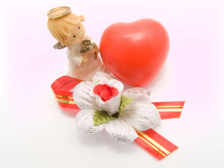 Scenery on a white background to day of Sainted Valentine photo
