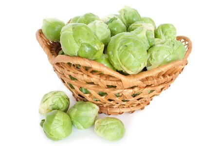 Brussels sprouts isolated, white background Stock Photo