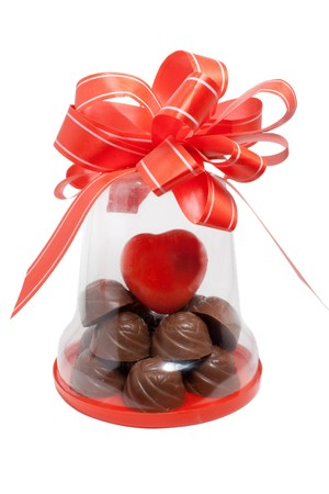 Chocolate gift to the day of Sainted Valentine photo
