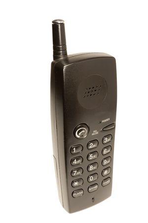 Tube of radiotelephone on a white background photo