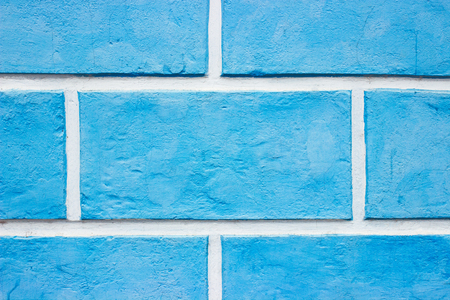 wall textures: Textures on the blue wall, Blue brick wall background. Stock Photo
