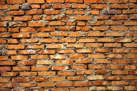 old vintage red brick wall texture background.