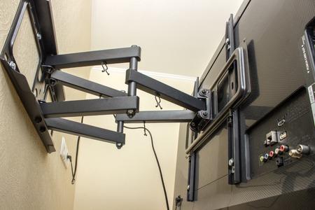TV ブラケット LED を表示します。テレビ用ブラケットを回転。 写真素材