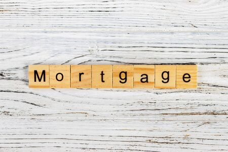 variable rate: MORTGAGE word made with wooden blocks concept Stock Photo