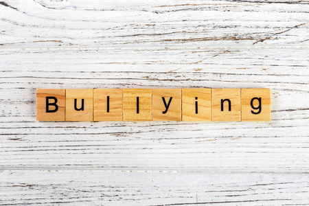 BULLYING word made with wooden blocks concept Zdjęcie Seryjne