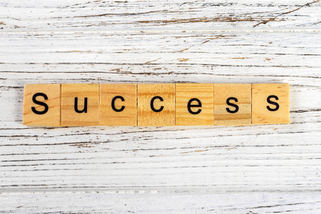 Success word made with wooden blocks concept Stock Photo