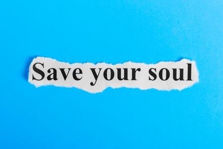 紙にあなたの魂のテキストを保存します。Word は、一枚の紙にあなたの魂を保存します。コンセプト イメージ。